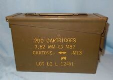 "Ammo Box Can for MM 7.62 M82 M13 10 3/4"" x 7"" x 3 3/4"" Ammunition Canister"