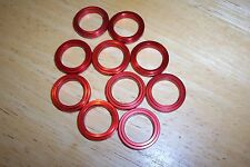 Kart Wheel Spacers for 17mm Stub Axles Pack of Ten x 5mm RED Brand New