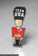 OLYMPIC PINS BADGE 2012 LONDON ENGLAND UK TEAM US USA NOC QUEENS GUARD