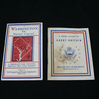 Vintage WW II Set of 2 Books for Service Men U.S. Capital and Great Britain 1944