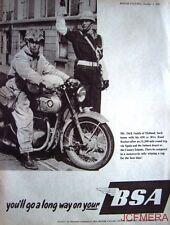 1957 Motor Cycle ADVERT - B.S.A. '650cc Road Rocket' Print AD
