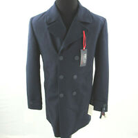 $350 Tommy Hilfiger Navy Modern-Fit Yale Wool Blend Rain Coat Mens 40R 40 NEW
