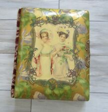 Antique Victorian Music Box Celluloid Photo Album