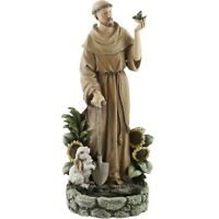 "St Francis of Assisi Birdfeeder Garden Yard Lawn Patio Statue 12.5"""