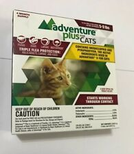 Adventure Plus for Cats Cat 5 to 9 lbs Triple Flea Protection 4 Mo. Supply