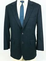 41R Brooks Brothers 1818 Madison Mens Wool 2 Bttn Blazer Jacket Dark Gray Exc!