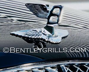 BENTLEY FLYING B MASCOT EMBLEM BADGE ASSEMBLY BLACK ALSO AVAILABLE