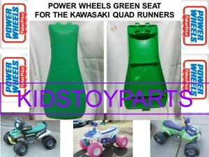Power Wheels KFX QUAD RUNNER KAWASAKI Replacement GREEN SEAT BOY OR GIRL QUADS