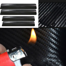 4 Pcs Car Accessories 3D Carbon Fiber Door Sill Scuff Protector Stickers Decor