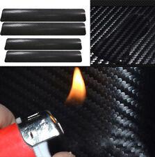 4 Pcs Car Accessories 3D Carbon Fiber Door Sill Scuff Protector Stickers Decor