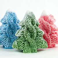 Christmas tree knitted silicone mold soap mold silicone candle molds cake mold