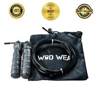 Adjustable Jump Rope Speed Crossfit Fitness Rogue Durable Cable Ball Bearings