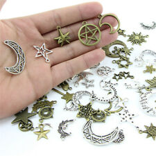 1Bag Mix Stars Moon Pendant DIY Necklace Metal Craft Jewelry Making Findings ##