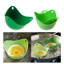 FOUR PACK SILICONE PAN MOULD EGG POACHERS POACHING POACH PODS KITCHEN COOKWARE