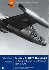 Dutch Decals 1/48 REPUBLIC F-84 THUNDERJET Dutch Air Force Service