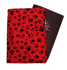 Passport Cover/Folder/Wallet - Dog/Cat Paws Red made by Graggie Australia*Ga