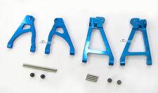 Alloy Rear Upper Lower Arm Set Fit Traxxas 1/16 Mini Slash blue