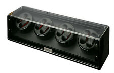 Diplomat Black Wood Eight 8 Watch Winder Carbon Fiber Interior Storage Box Case