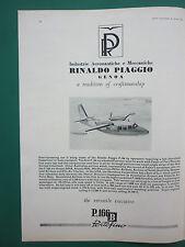 1/1965 PUB PIAGGIO OF GENOA PIAGGIO P.166B PORTOFINO AIRCRAFT ORIGINAL AD