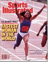 July 25, 1988 Florence Griffith Joyner Olympic Track & Field Sports Illustrated