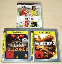 3 PLAYSTATION 3 PS3 SPIELE SAMMLUNG FIFA 12 KILLZONE 2 FAR CRY 2 EGO SHOOTER