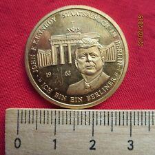 """Medaille - John F. Kennedy """"Ich bin ein Berliner"""" - 35 Präsiden der USA 1963"""
