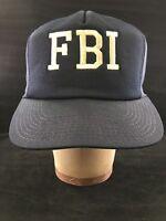FBI Vintage Blue Cap Hat One Size M & B Headwear Federal Bureau of Investigation
