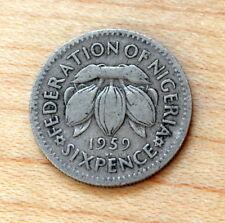 1959 Nigeria 6 Pence Cocoa beans