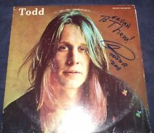 "Todd Rundgren Signed Record ""Todd"" Rare Inscribed! 2Lp 1974 Proof! Wow! L@K!"