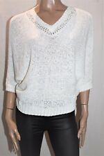 TARGET Brand White Tape Yarn Short Sleeve Sweater Top Size XS BNWT #TH104