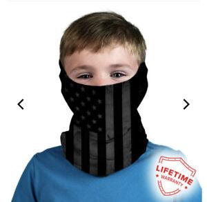 Salt Armour SA /KIDdie (BLACK OUT American Flag) Patriotic USA flag Mask Gaiter