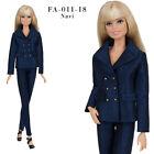 ELENPRIV FA-011 Navy jacket pants outfit for Barbie MTM, Poppy Parker dolls