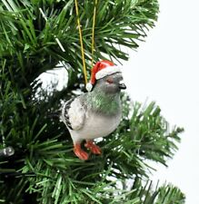 Santa Style London Pigeon Hanging Christmas Tree Decoration/Bauble