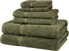 Pinzon 6 Piece Blended Egyptian Cotton Bath Towel Set Moss