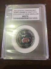 2005-06 Royal Canadian Mint Sidney Crosby MS70 SP Medallion Coin Exclusive
