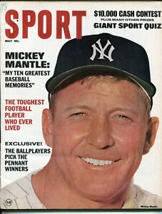 Sport-5/1967-Mickey Mantle-MLB-NFL- info-stats-VG/FN