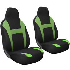 Car Seat Covers For Auto Honda Civic 2pc Bucket Green w/integrated head rest