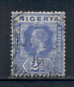 NIGERIA 4 SG4 Used 1914-27 2&1/2p blue KGV Defin Wmk Mult Crown CA Cat$8