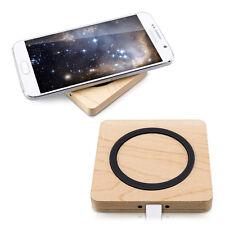 SLL Senza Fili Qi Caricabatteria PER SAMSUNG NOKIA LG SMARTPHONE WIRELESS legno 5w
