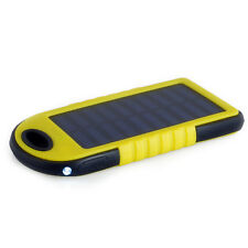 Solar charger Power bank 18500mWh Solar panel 1.2W Li-Poly LED Yellow PowerNeed