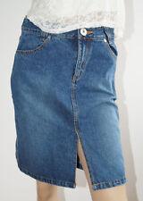 6f86ae9e9db789 Rock Damen Jeansrock Jeans blau knielang Größe S (1603C-2#)