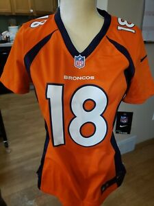 Denver Broncos Jersey Peyton Manning #18 Nike Women's NFL OnField Small  NWT