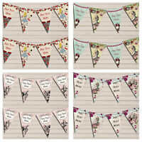 Personalised Alice In Wonderland Mad Hatters Tea Party Garland Birthday Bunting