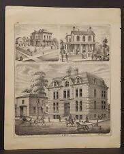Illinois Adams County Map Residence & Office Dr. J.J. Koch 1872 K18#27