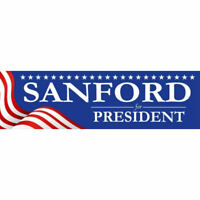 Mark Sanford For President 2020 Bumper Sticker Decal