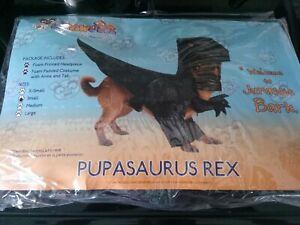 "Pupasaurus T-Rex Dinosaur Funny Pet Dog Costume ""Welcome to Jurassic Bark"""