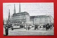 AK DRESDEN 1917 seltene Perspektive vom Postplatz mit Strassenbahn    ( 23308