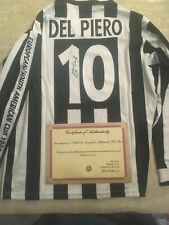 MAGLIA DEL PIERO AUTOGRAFATA JUVENTUS FINALE COPPA INTERCONTINENTALE 1996 + COA