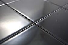 Mosaïque carreau céramique noir brillant cuisine bain mur 23-0301_b | 1 plaque