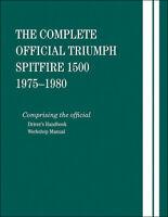 Triumph Spitfire 1500 1975-1980 Manual Shop Repair Service Book Hardcover